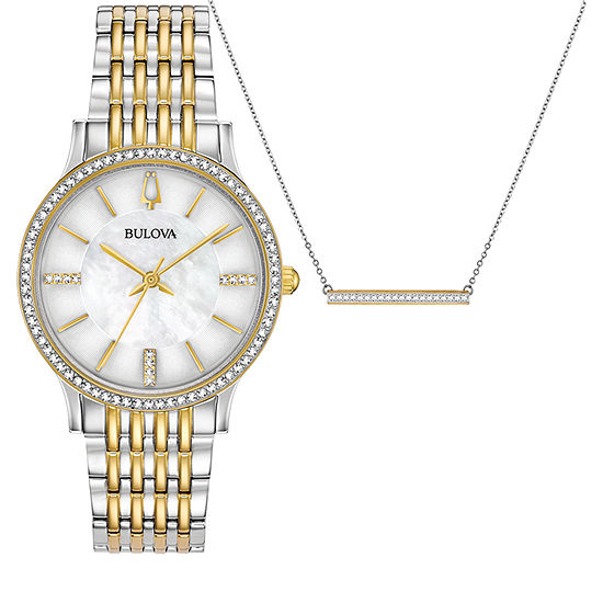 Bulova Womens Two Tone Bracelet Watch-98x118