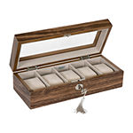Mele & Co. Laramie Walnut Watch Box