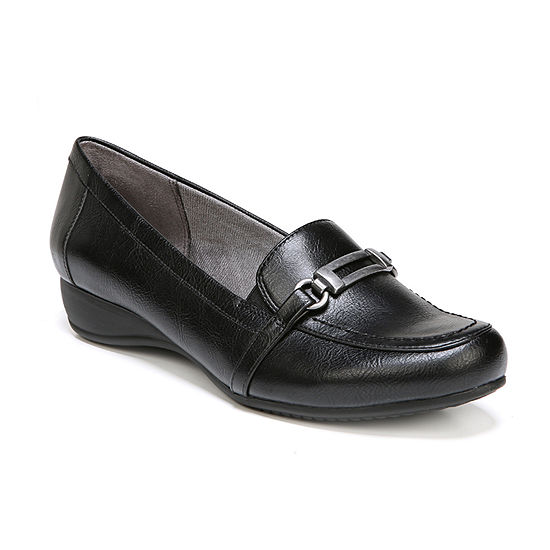 Lifestride Womens Demure Loafers Slip-on Round Toe-Wide Width