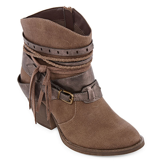 Pop Womens Unite Cowboy Boots Block Heel
