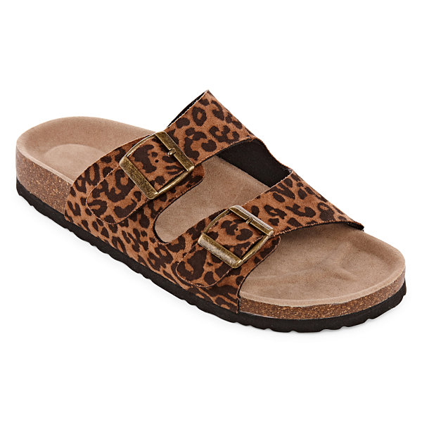 Arizona Forum Womens Criss Cross Strap Footbed Sandals