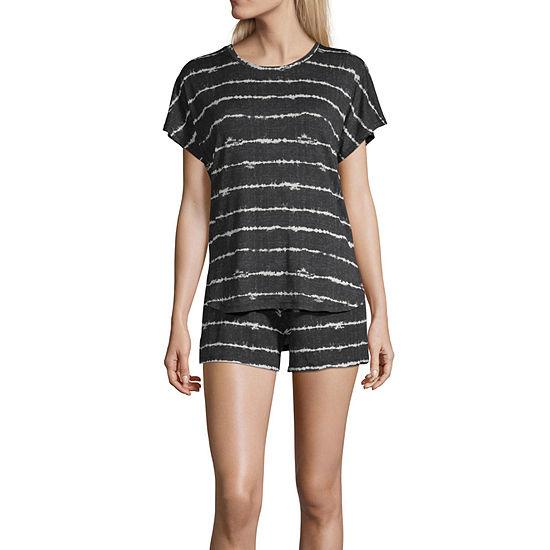 Ande Womens Shorts Pajama Set 2-pc. Short Sleeve