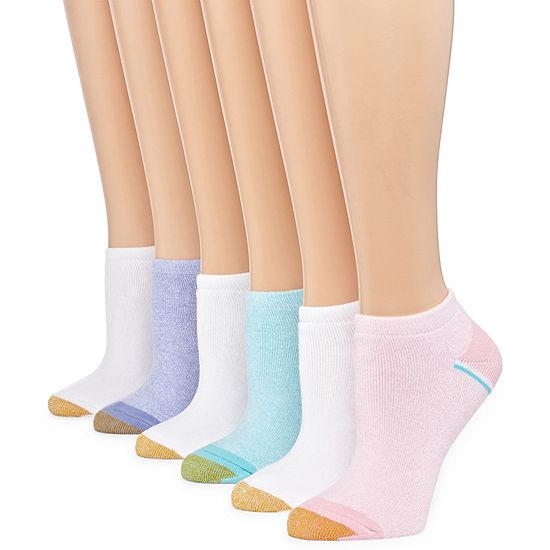 Gold Toe 6 Pair No Show Socks Womens
