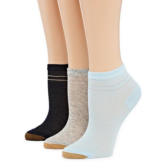 Gold Toe Riviera Stripe 3 Pair Low Cut Socks - Womens