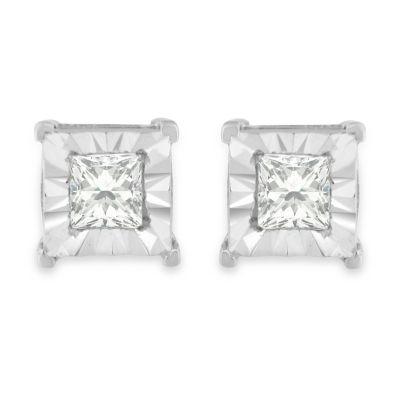 5/8 CT. T.W. Genuine White Diamond 5mm Stud Earrings