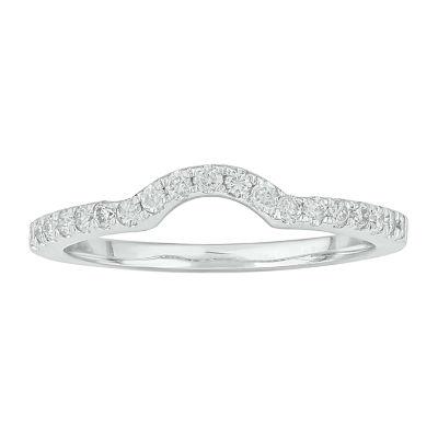 2MM 1/3 CT. T.W. Genuine White Diamond 10K White Gold Anniversary Band