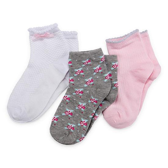 3 Pair Low Cut Socks Girls Preschool