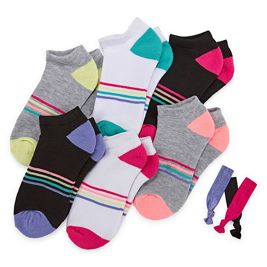 Xersion Big Girls 6 Pair Low Cut Socks