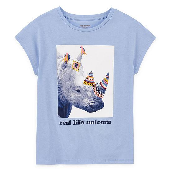 Arizona Girls Round Neck Short Sleeve Graphic T-Shirt