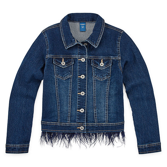 Arizona Feather Girls Denim Jacket-Preschool