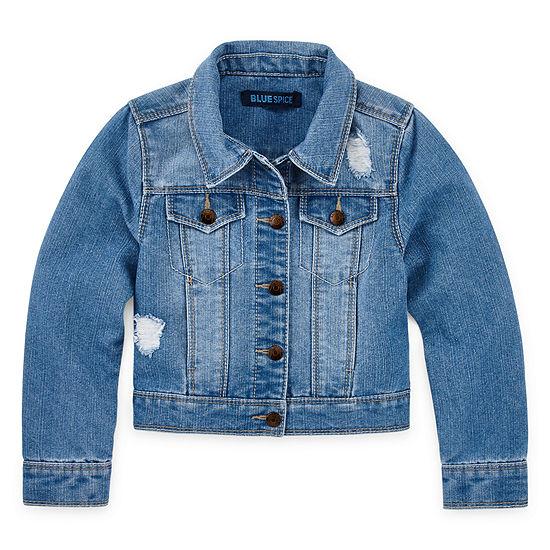 Blue Spice Girls Denim Jacket-Big Kid