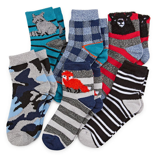 Okie Dokie 6 Pair Low Cut Socks