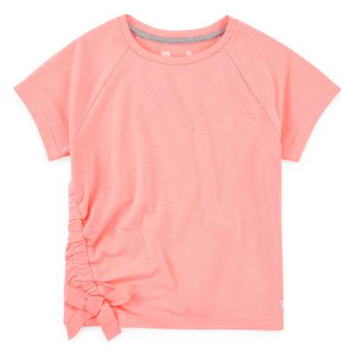 Xersion Girls Round Neck Short Sleeve Sweatshirt Preschool / Big Kid