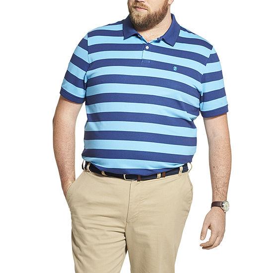 IZOD Big and Tall Advantage Performance Striped Polo Shirt
