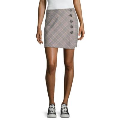 Blue Spice Womens Short A-Line Skirt-Juniors