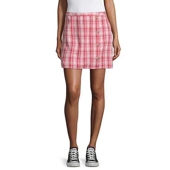 Arizona Short A-Line Skirt-Juniors