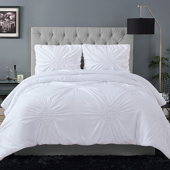 Christian Siriano Georgia Rouched Midweight Comforter Set