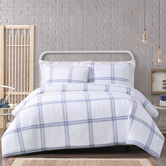Cottage Classics Modern Charm 3-pc. Plaid Duvet Cover Set