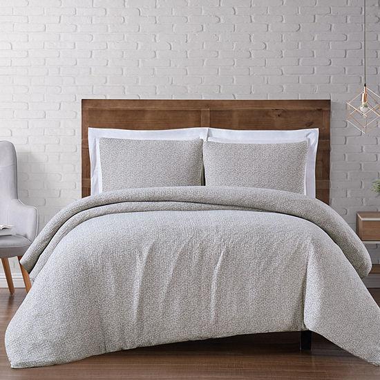 Brooklyn Loom Matelasse 3pc. Solid Woven Duvet Cover Set