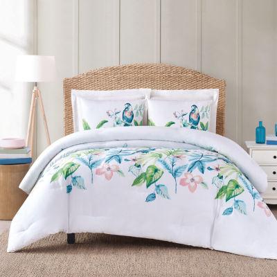 Oceanfront Resort Tropical Bungalow Midweight Comforter Set