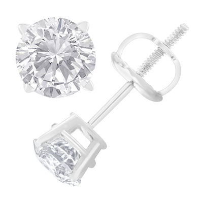 1 CT. T.W. Genuine White Diamond 4.9mm Stud Earrings