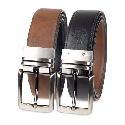 JF J.Ferrar® Stretch Reversible Dress Men's Belt with Feather Edge
