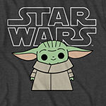 Disney Mandalorian Little & Big Boys Crew Neck Star Wars Short Sleeve Graphic T-Shirt