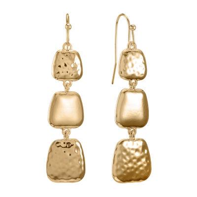 Liz Claiborne Recycled Metal Drop Earrings