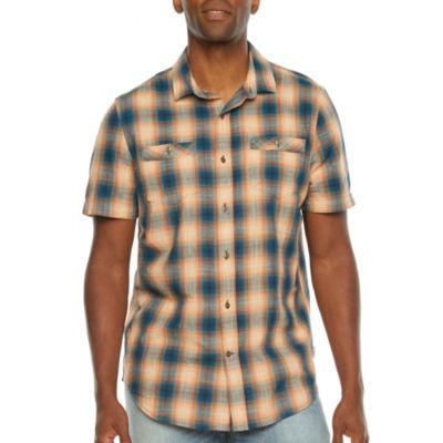 St. John's Bay Outdoor Mens Short Sleeve Button-Down Shirt