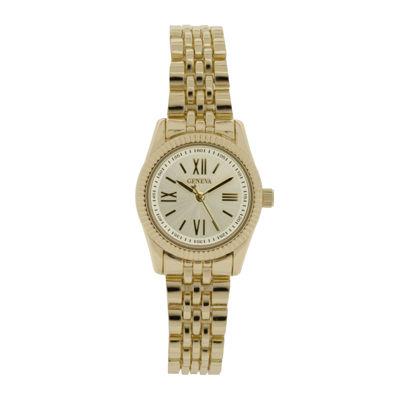 Womens Silver-Tone Dial Gold-Tone Bracelet Watch
