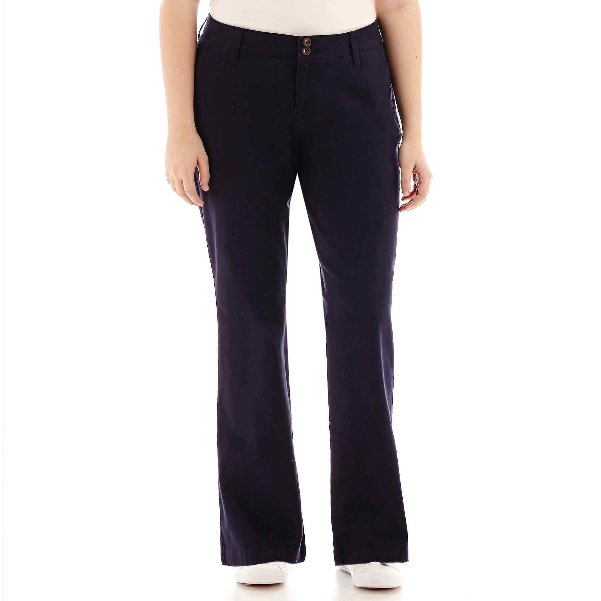 Arizona Schoolgirl Bootcut Pants - Juniors Plus plus size,  plus size fashion plus size appare