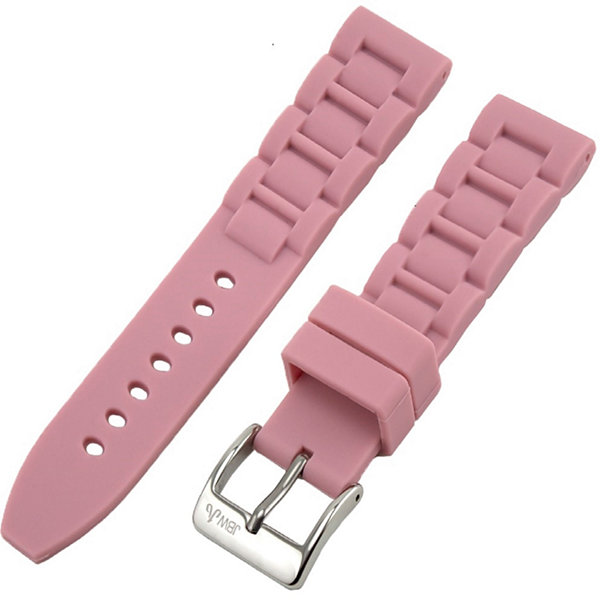 JBW Womens  Pink And Silver Tone Silcone Watch Band
