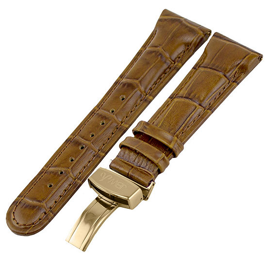 JBW Womens Brown Leather Watch Band-Jb-20mmgld-Brn