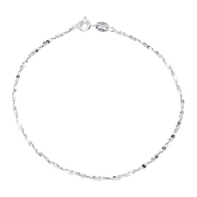 "Silver Reflections™ Sterling Silver 7.5"" Twist Serpentine Bracelet"