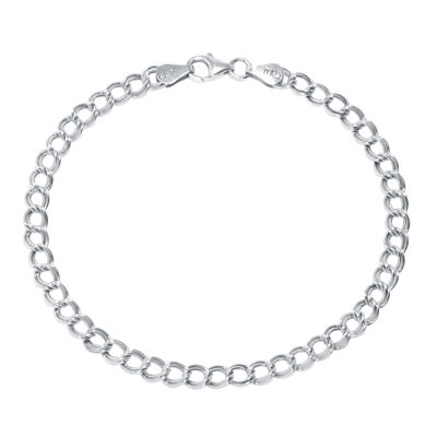 """Silver Reflections™ Sterling Silver 7.5"""" Link Chain Bracelet"""