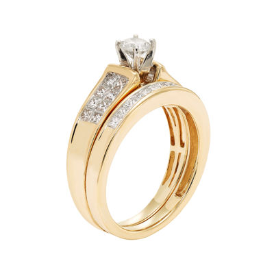 1 CT. T.W. Certified Diamond 14K Yellow Gold Bridal Set