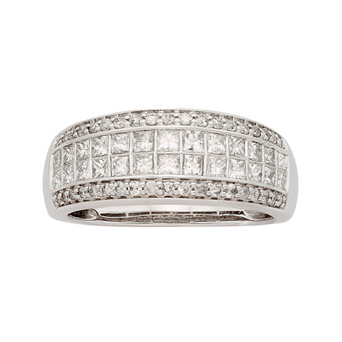 1 CT. T.W. Certified Diamond 14K White Gold Wedding Band
