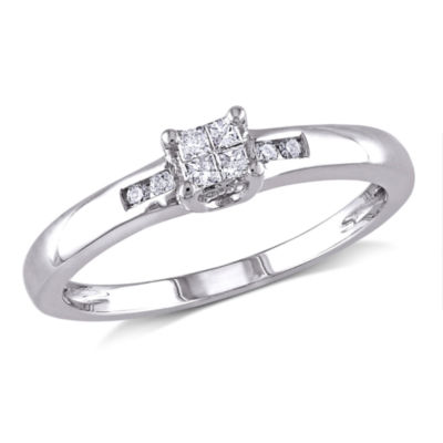 1/8 CT. T.W. Diamond Sterling Silver Multi-Top Engagement Ring