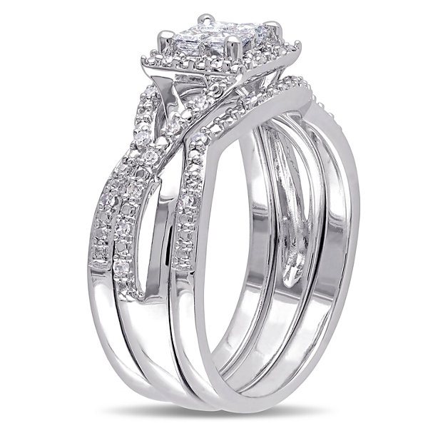 Diamond Sterling Silver Bridal Set 20