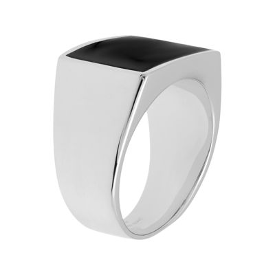 Mens Stainless Steel Ring with Resin