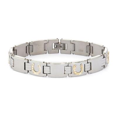 Mens Stainless Steel Horseshoe Chain Bracelet