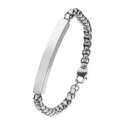 Inox® Jewelry Mens Stainless Steel with Box Chain Bracelet
