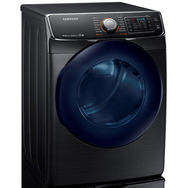 Samsung ENERGY STAR® 7.5 cu. ft. Smart Wi-Fi Enabled Front-Load Electric Dryer With Steam