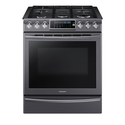 Samsung 5.8 cu. ft. Slide-In Gas Range With Self-Cleaning Dual Convection Oven