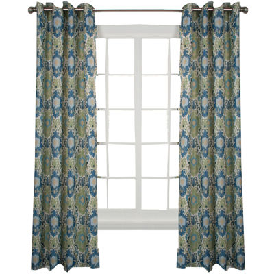 Tuscany Lined Grommet-Top Curtain Panel