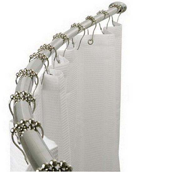 Kingston Brass Hotel Adjustable Single-Curved Shower Rod