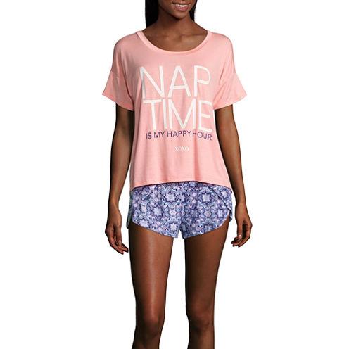 Xoxo Shorts Pajama Set