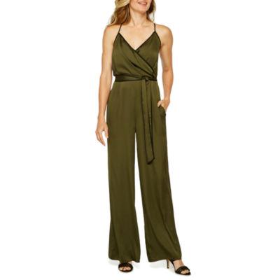 Worthington Sleeveless Belted Jumpsuit