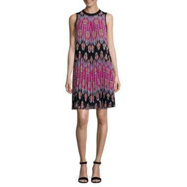 Nicole By Nicole Miller Sleeveless Geometric A-Line Dress