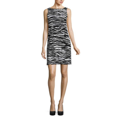 Nicole By Nicole Miller Sleeveless Animal Shift Dress